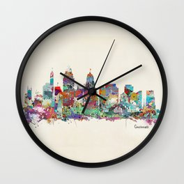 Cincinnati Ohio skyline Wall Clock
