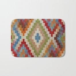kilim rug pattern Bath Mat
