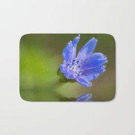 Blue wildflower reflection Bath Mat