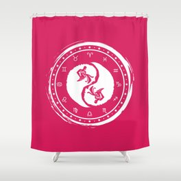 Aquarius Yin Yang Eleventh Zodiac Sign Shower Curtain
