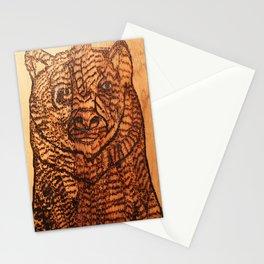 Bear pyrography Stationery Cards