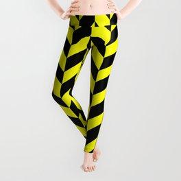 Herringbone (Black & Yellow Pattern) Leggings