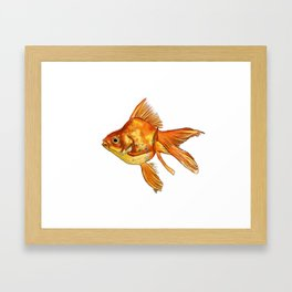 Gold Fish Painting Wall Art Framed Art Print