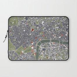 London city map engraving Laptop Sleeve