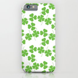 Lucky Shamrock Clover Leaves iPhone Case