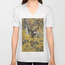 Hiding in the Aspens Unisex V-Neck