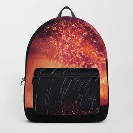 Kilauea Volcano Eruption. Backpack