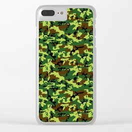 camouflage militaire Clear iPhone Case