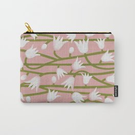 Climbing Lillies on Pink Carry-All Pouch