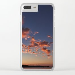 Puffy, pink Puget Sound sunset Clear iPhone Case