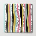 Polka Pink Blue Gold Wavy Stripes by doucettedesigns