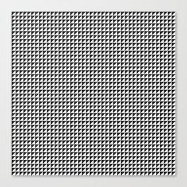 Triangulate Black and White Canvas Print