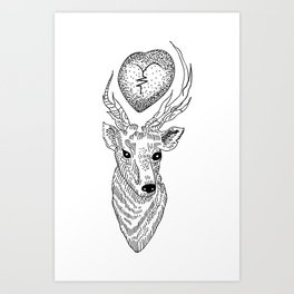 Louis Tomlinson tattoo Art Print
