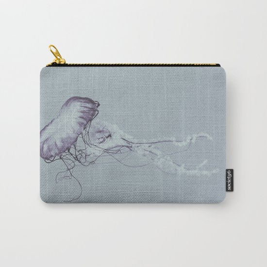 Jellyfish Black and White Carry-All Pouch