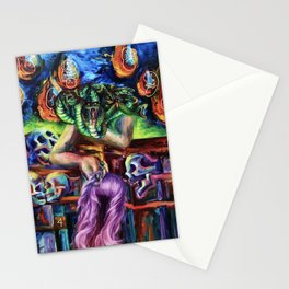 """""""Medusa's Grief"""" Painting Stationery Cards"""