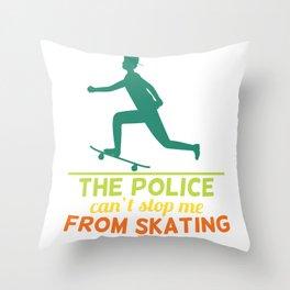 Skating Skateboard Gift Throw Pillow