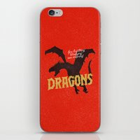 dragons iPhone & iPod Skins featuring Dragons by WEAREYAWN