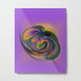 a child loves playing with colours Metal Print