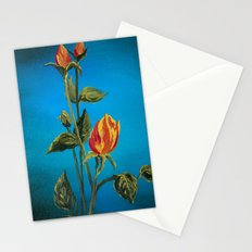 Tahitian Sunset Rose Buds Stationery Cards