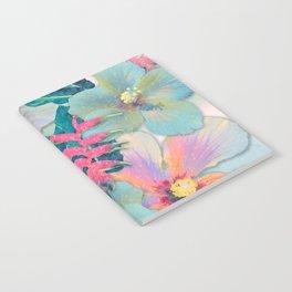 Aqua Ginger Alohas Notebook