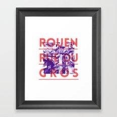 Rouen rue du Gros Framed Art Print