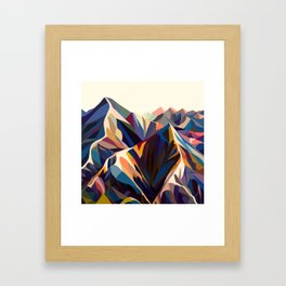 Mountains original Gerahmter Kunstdruck
