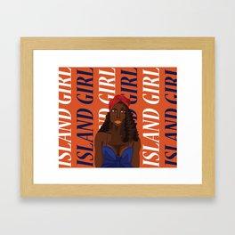 Island Girl IV Framed Art Print