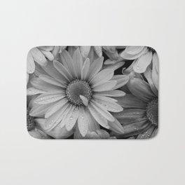 Sepia Toned Flowers Bath Mat