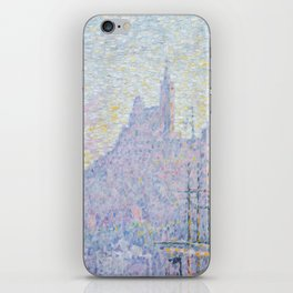 View of the Port of Marseilles iPhone Skin