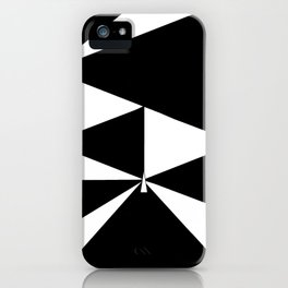 Triangles in Black and White iPhone Case