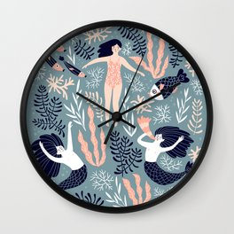 My home is in the sea Wall Clock