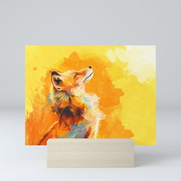 Blissful Light - Fox portrait Mini Art Print
