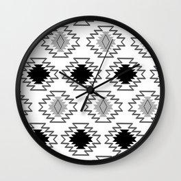 Minimal Tribal Boho Pattern Chic #2 #aztec #decor #art #society6 Wall Clock