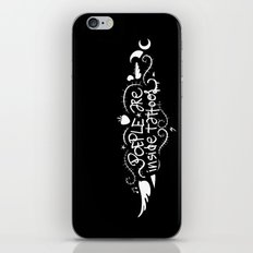 People are inside tattoos - Emilie Record iPhone & iPod Skin