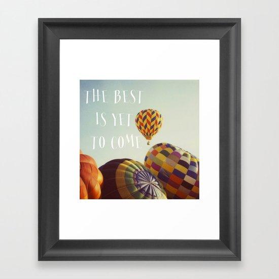 The Best - Balloons Framed Art Print