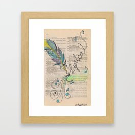 Lyrical beauty Framed Art Print