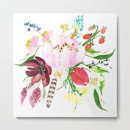 Modern watercolors flowers bouquet no2 Metal Print