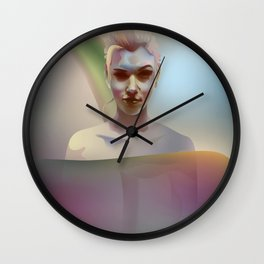 portrait in the water Wall Clock