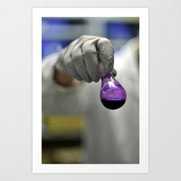 Purple flask Art Print