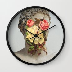 Bust With Flowers Wall Clock