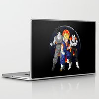 dbz Laptop & iPad Skins featuring DBZ - Mighty Fusion by Mr. Stonebanks