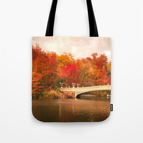 New York City Autumn Magic in Central Park Tote Bag