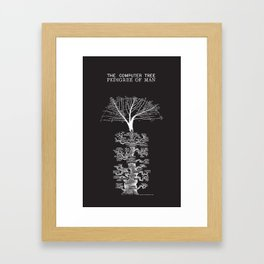 The Computer Tree Pedigree of Man Framed Art Print