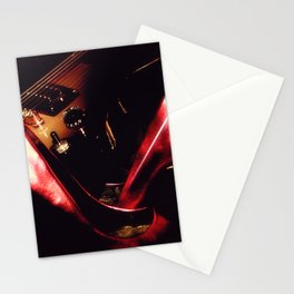 After the Set red high heels wine and music Stationery Cards