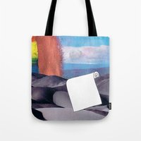 tool Tote Bags featuring Spill Tool by Ventral Is Golden