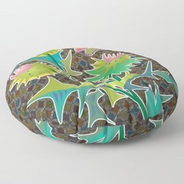 floral  with thistle Floor Pillow