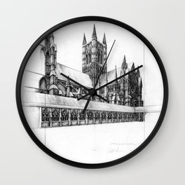 Lincoln Cathedral Wall Clock