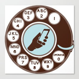 Dial numbers with analoque mobile Canvas Print
