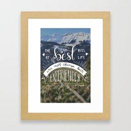 The Best Bits of Life Framed Art Print