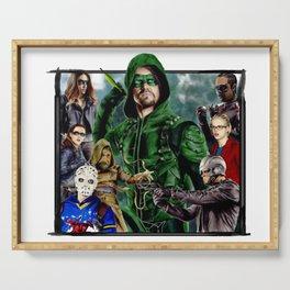 Team ARROW - season 4(Green Arrow,Felicity Smoak,Spartan,OTA) Serving Tray